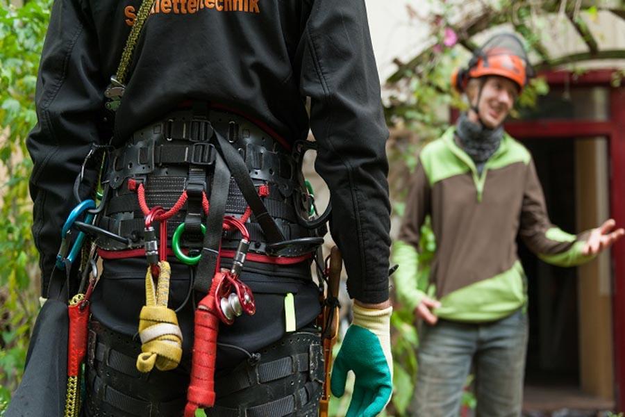 Seilklettertechnik Baumpflege